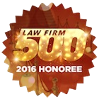 Law Firm 500 2016 Honoree